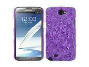Baby Purple Pearl Diamante Rhinestones Bling Back Protector Case Cover for Samsung N7100 (Galaxy Note II)