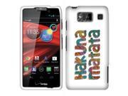 Motorola Droid Razr Maxx HD XT926M Hard Case Cover - Hakuna Matata