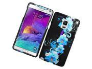 Samsung Galaxy Note 4 Hard Case Cover - Blue Flowers
