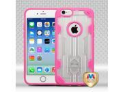Apple iPhone 6 4.7 inch Hard Cover and Silicone Protective Case - Hybrid Transparent Clear/ Hot Pink Challenger
