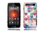 Motorola Droid 4 XT894 Hard Case Cover - Watercolor Chevron 2D Glossy