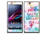 Sony Xperia Z Ultra Togari C6802 C6806 C6833 Vinyl Decal Sticker - Keep Calm Dream On