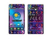 Samsung Infuse 4G I997 Vinyl Decal Sticker - Aztec You Only Live Once Yolo
