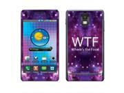 Samsung Infuse 4G I997 Vinyl Decal Sticker - Wtf Where'S The Food