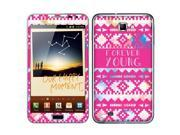 Samsung Galaxy Note N7000 I717 I9220 Vinyl Decal Sticker - Aztec Forever Young
