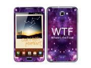 Samsung Galaxy Note N7000 I717 I9220 Vinyl Decal Sticker - Wtf Where'S The Food
