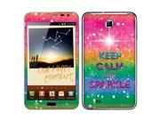 Samsung Galaxy Note N7000 I717 I9220 Vinyl Decal Sticker - Keep Calm And Sparkle