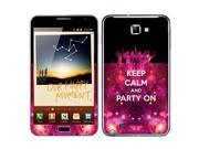 Samsung Galaxy Note N7000 I717 I9220 Vinyl Decal Sticker - Keep Calm And Party On