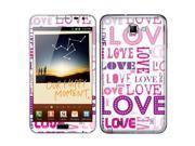 Samsung Galaxy Note N7000 I717 I9220 Vinyl Decal Sticker - Pink/ Purple Love