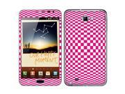 Samsung Galaxy Note N7000 I717 I9220 Vinyl Decal Sticker - Hot Pink Check Illusion