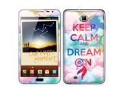 Samsung Galaxy Note N7000 I717 I9220 Vinyl Decal Sticker - Keep Calm Dream On