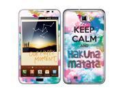 Samsung Galaxy Note N7000 I717 I9220 Vinyl Decal Sticker - Keep Calm Hakuna Matata