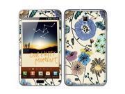 Samsung Galaxy Note N7000 I717 I9220 Vinyl Decal Sticker - Garden Flowers