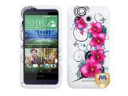 HTC Desire 510 Hard Cover and Silicone Protective Case - Hybrid Morning Petunias/White Tuff + Tool