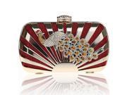 KAXIDY Luxury Handbag Clutch Evening Party Bag with Peacock Rhinestones