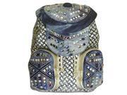 Kaxidy Ladies Girls Shoulder Bags Handbag Satchel Schoolbag Denim Rhinestones Backpack