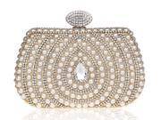 KAXIDY Ladies Girls Luxury Elegant Imitation Pearl Rhinestones Designer Evening Bags Purses Clutch Bag Wedding Purse Party Prom Bag (9SIA2ZR7252868 KS71281) photo