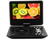 "Discount Electronics On Sale US Shipping 9.5"" Portable 16:9 TFT LCD Monitor 180A° Swivel Screen DVD Player w/ Built-In USB SD Card Slot + Remote + Rechargeable Battery + Car charger, Suppo"