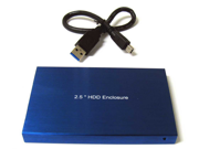"New USB 3.0 USB 2.0 2.5"" 2.5 Inch SATA Hard Disk Drive HDD Blue Enclosure/Case"