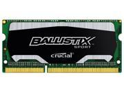 Ballistix Sport 4GB DDR3 1600 MHz PC3-12800 Sodimm Laptop Memory 204 Pin