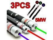 High Power 5MW 3x Green + Blue Voilet + Red Lazer Ray Powerful Laser Pointer Pen 9SIA4RE50R1948