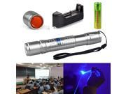 Military 5MW 405NM Ray Blue Purple Violet Laser Pointer Pen Visible Beam Light 9SIA6J15R25915