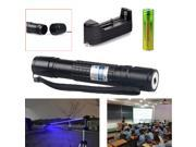 Military 5MW 405NM Blue Violet Purple Laser Pointer Pen Visible Beam Light 9SIA6HD5R25744