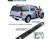 Molded Step Boards-Chevrolet Pickup-3500 1988-1998-Black-Extended Cab, Lighted Boards