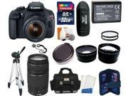 Canon EOS Rebel T5 Digital Camera SLR Kit With Canon EF-S 18-55mm IS II + Canon 75-300mm III Lens + 32 GB Super Kit