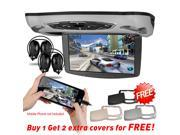 "HDMI 10"" HD Screen Car Flip Down Monitor DVD Player Roof Mount Overhead USB FM Game Disc IR Headphone"