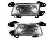 1989-1995 Mazda MPV Van Headlamp Headlight Front Head Light Lamp Pair Set Right Passenger AND Left Driver Side (1995 95 1994 94 1993 93 1992 92 1991 91 1990 90