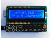 LCD Shield Kit w/ 16x2 Character Display - Only 2 pins used! (BLUE AND WHITE)