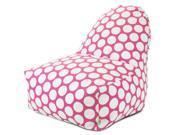 Hot Pink Large Polka Dot Kick-It Chair