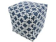 Majestic Home Goods Navy Blue Links Small Cube