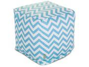 Majestic Home Goods Tiffany Blue Chevron Small Cube