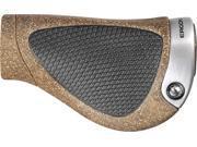 Ergon GP1-L BioKork Gripshift Large Black / Tan Mountain Bike Grips