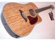 Oscar Schmidt Acoustic/Electric Dreadnought Guitar, Spalted Maple Top, OG2CESM