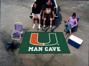 Fanmats University of Miami Hurricanes Man Cave UltiMat Rug 5'x8'