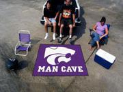 Fanmats Kansas State University Wildcats Man Cave Tailgater Rug 5'x6'