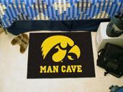 "Fanmats University of Iowa Hawkeyes Man Cave Starter Rug 19""x30"""