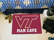 "Fanmats Virginia Tech Hokies Man Cave Starter Rug 19""x30"""
