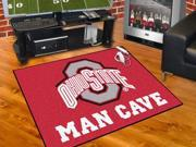 "Fanmats Ohio State University Buckeyes Man Cave All-Star Mat 33.75""x42.5"""