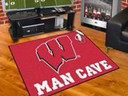 "Fanmats University of Wisconsin Badgers Man Cave All-Star Mat 33.75""x42.5"""