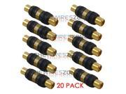 High Quality Gold Plated RCA Female to Female Barrel Connector Adapter (20/pack) 9SIA34A4TH2107