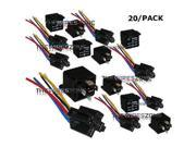 12V 30/40A Automative Relay with Harness Socket SPDT Bosch Style 12 Volt 20/pk