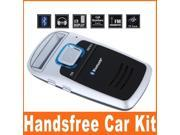Bluetooth Car Kit Handsfree calls FM MP3 Player Solar Powered Free Shipping Dropshipping Wholesale