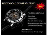 Luxury Mechanical Men's Steampunk Skeleton Mens Men Stainless Steel Wrist Watch
