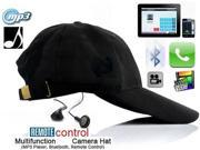 Baseball Cap Spy Hat Camera HD Hidden Camera Mini DVR DV Camcorder Video Recorder Supports TF Card with Bluetooth Function
