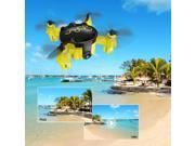 FQ777 FQ04 Beetle Mini Pocket Drone with Camera Headless Mode RC Quadcopter RTF - Yellow