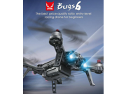 MJX Bugs 6 Brushless Racing Quadcopter with 3D Flip & Rolls Mode RTF Standard Version without Camera- Black